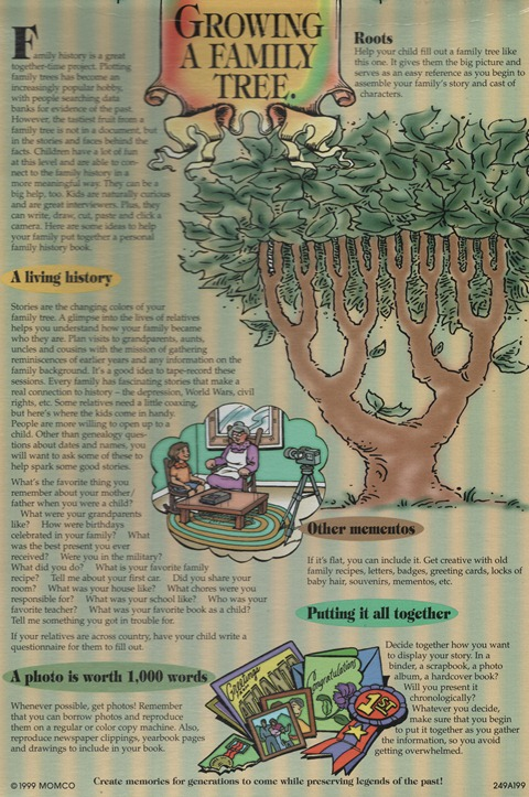 Growing A Family Tree (click to enlarge)