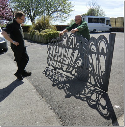 Hamish and Byron with gate