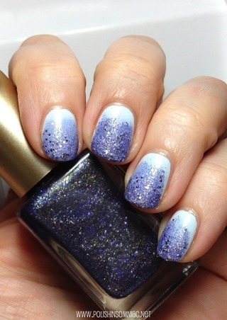 EASY Textured Glitter Gradient #WalgreensBeauty #CollectiveBias #shop