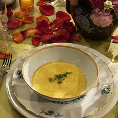 Pumpkin Soup with Lotus Seeds