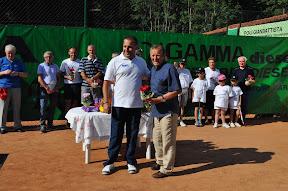 Omaggio al giornalista Gianfranco Poletti (Giornale di Brescia) sempre vicino al tennis di Bovegno.