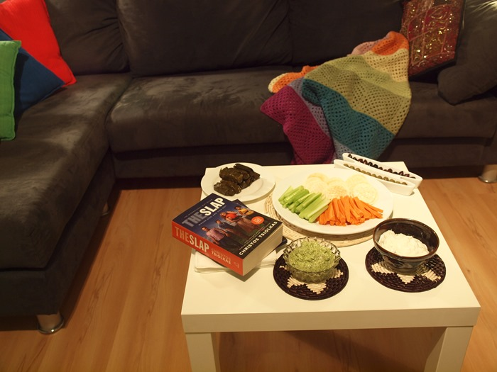bookclub night - savoury things