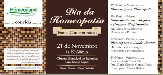 Folheto Homeogarvil Dia Homeopatia
