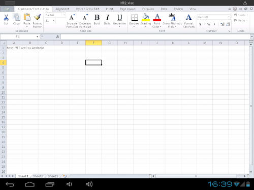 CloudOn - Microsoft Excel