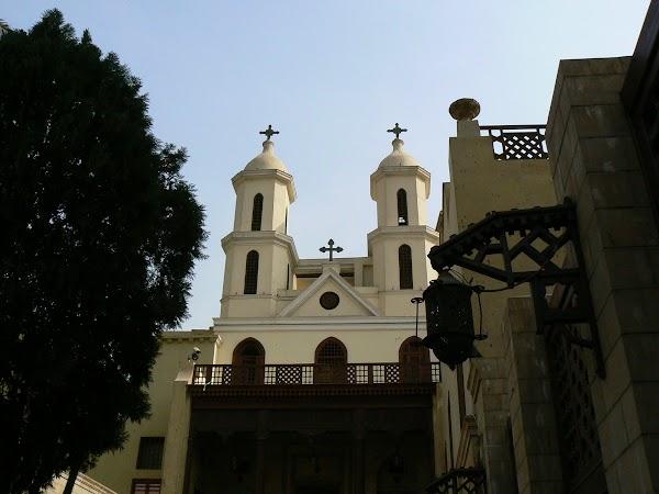 Imagini Cairo: biserica suspendata, Egipt, Cairo