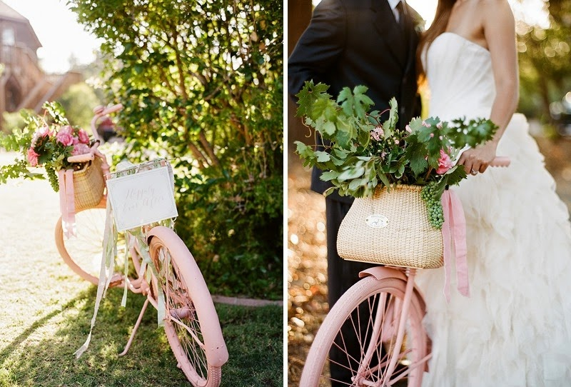 11 Pink Bike Wedding Prop