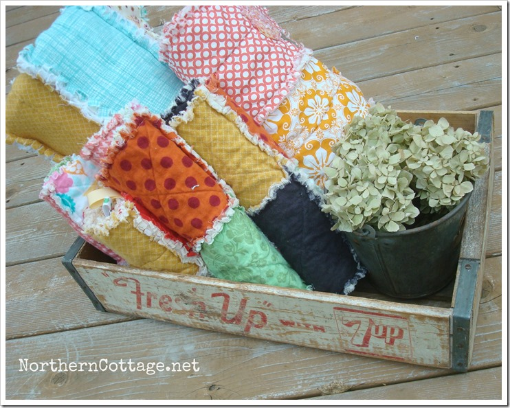 {Northern Cottage} - a crate of cozy RAG QUILTS!!