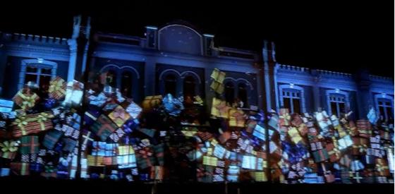 Show Projeção 3D no Shopping Curitiba - Natal 2011