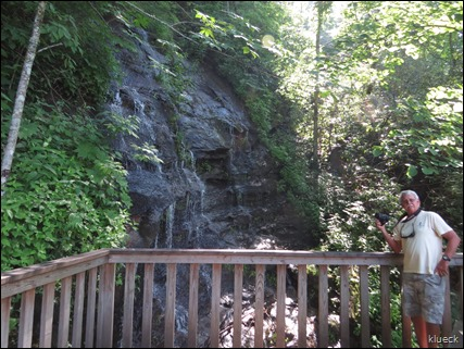 waterfall at black rock mountain state park