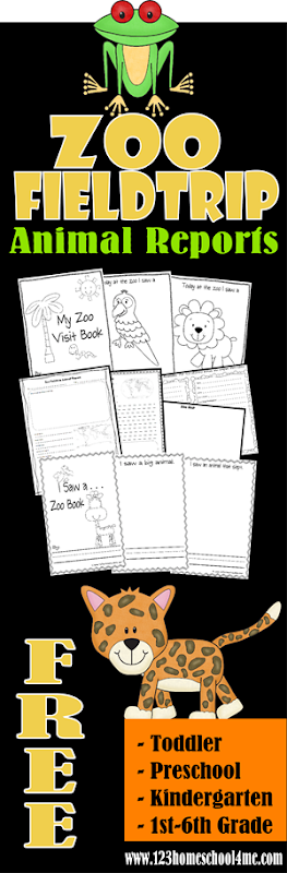 FREE Zoo Fieldtrip Animal Reports #homeschool #preschool #freeworksheets