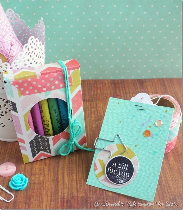 cafe creativo - sizzix big shot - box - gift - scatolina (1)