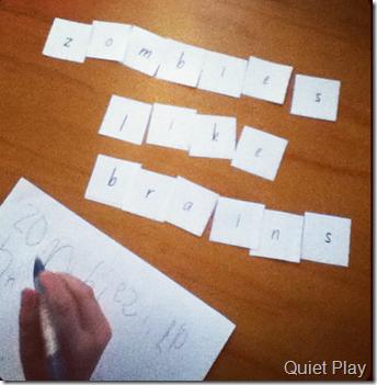 J practicing writing
