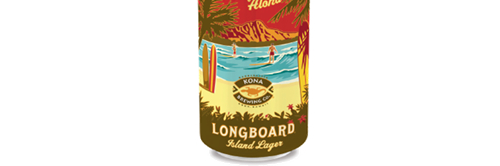 image of Longboard Lager in cans courtesy of the Kona Brewing Co.