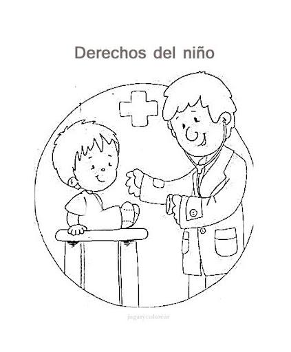 Dibujos de los derechos del niño para pintar | Manualidades Infantiles