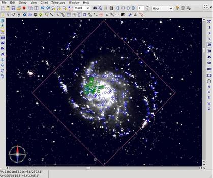 M101 com dados do Observatório Virtual