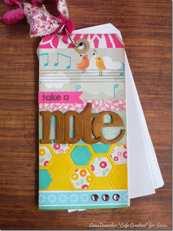 Anna Draicchio - sizzix big shot - home decor - notes tag (2)
