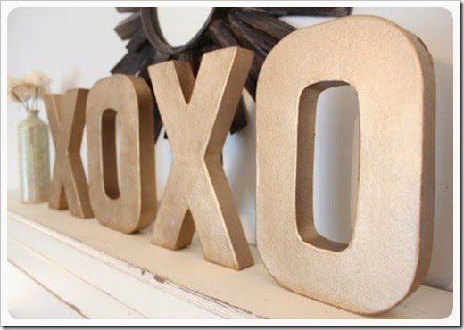papier mache letters