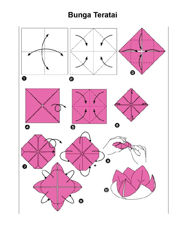 Схема цветов по оригами