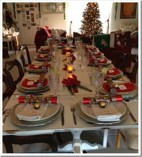 Kathy's Christmas table