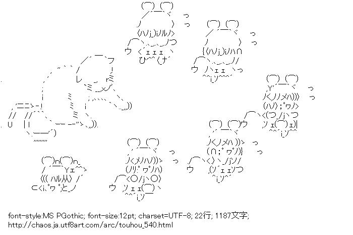 [AA]猫 & ナズーリン (東方)
