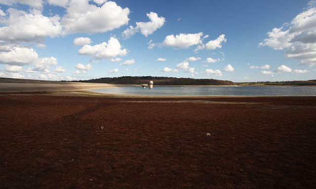 Bewl Water in Lamberhurst, Kent, which has been suffering low levels after two dry winters. Rex Features via guardian.co.uk