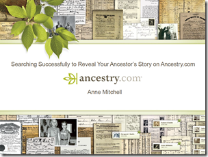 Searching Successfully to Reveal Your Ancestor's Story on Ancestry.com