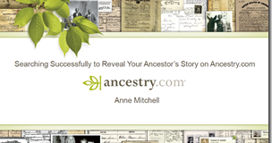 RootsTech: Ancestry.com Search Tools