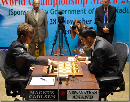 2nd Game - FIDE World Chess Ch 2013 in Chennai India