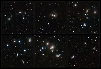 Highlights of the VST image of the Hercules galaxy cluster