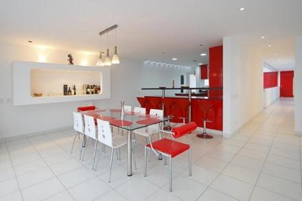 cocina-diseño-rojo