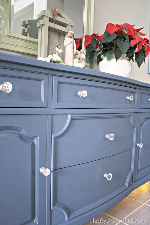blue dresser crystal knobs