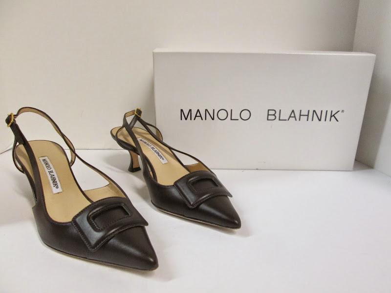 Manolo Blahnik Brown Slingbacks