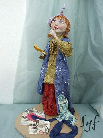 muñeca papel mache-5