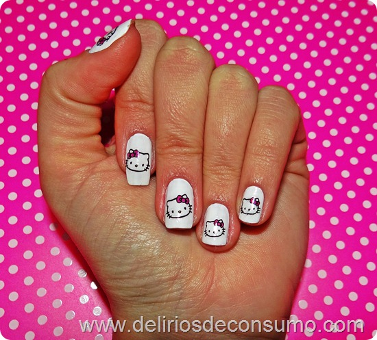 unhas hello kitty
