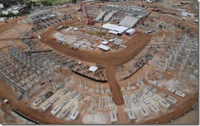 Foto aérea da Arena das Dunas Canindé SoaresDivulgação