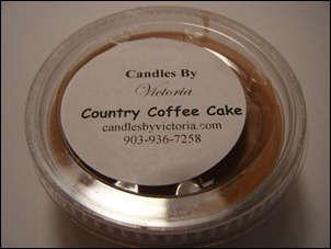 Candles By Victoria - Country Coffee Cake