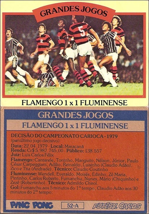 52-A - Flamengo 1x1 Fluminense