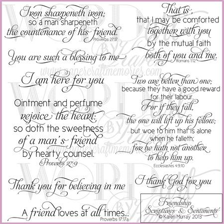 Friendship Scriptures & Sentiments