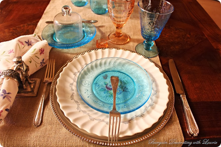Pastel Fall Table-Bargain Decorating with Laurie