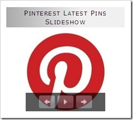 Pinterest latest pins slideshow
