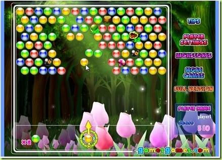 gioco Bubble elements earth