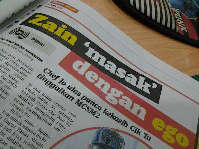 Zain Saidin Tinggalkan Masterchef Selebriti Malaysia 2