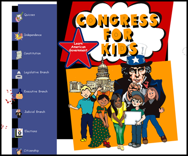 Congress for Kids – This amazing site has great information and diagrams to describe the creation of the United States government and the process of how each branch works.
