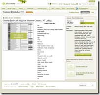 Ancestry.com Content Publisher text collection page