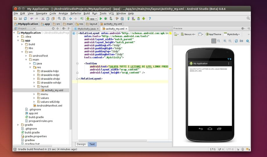 Android Studio in Ubuntu