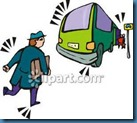 running after buses
