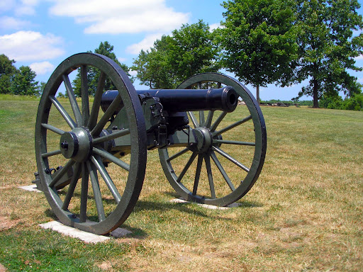 A Civil War era cannon on display outside the Visitor Center at Wilson's Creek National Battlefield. (Photo credit: Jeremy Shreckhise)