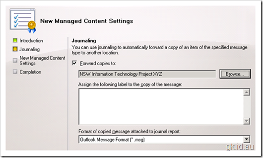 SharePoint Exchange MRM