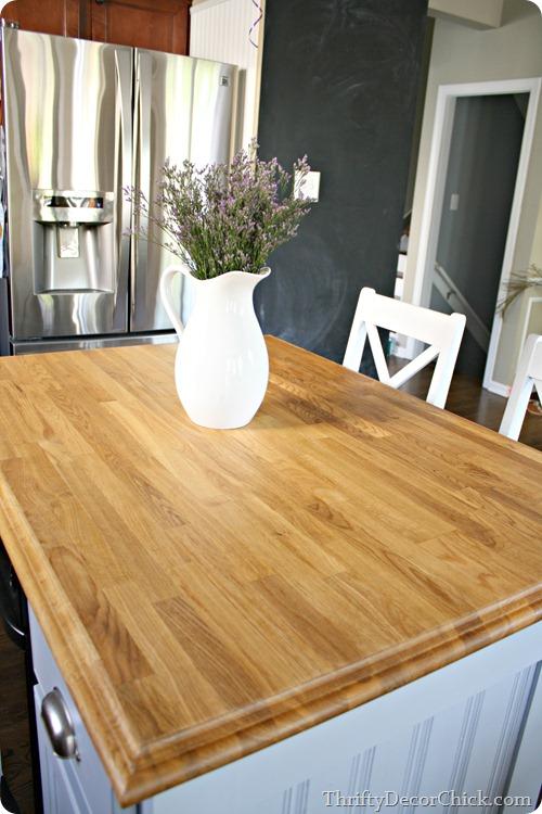 sealing wood countertops