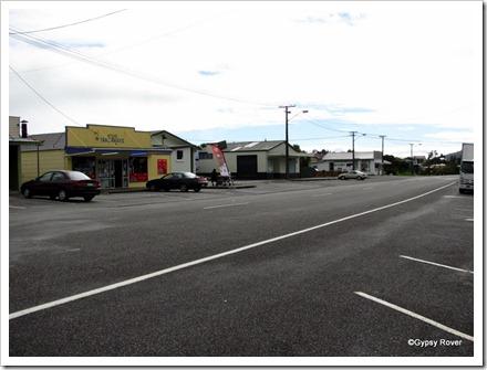 Broad main street of Runanga.